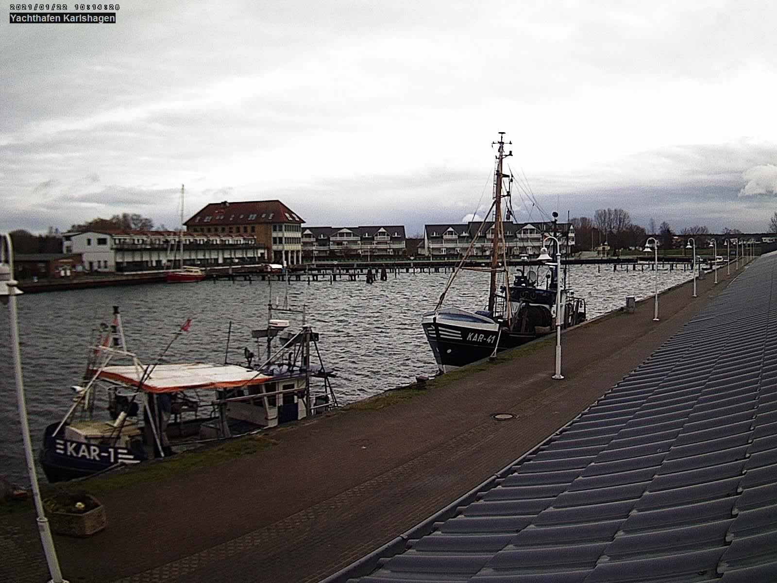 Webcam Karlshagen mit Bick in den Hafen
